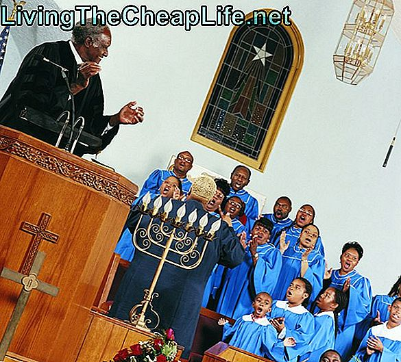 Gospel Choir Singing and Clapping Under Church Service