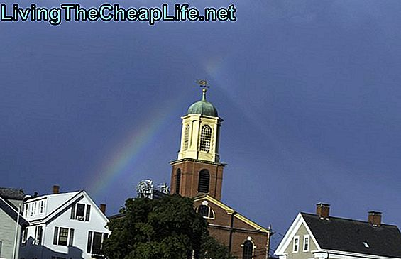 Arcobaleno sopra Portsmouth, New Hampshire