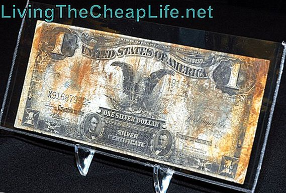 US Silver Certificate ved Titanic Artefact Exhibit